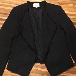 Loft open front blazer in black size 4